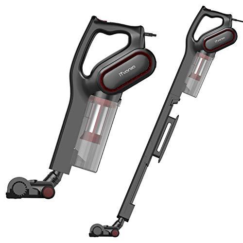 サイクロン掃除機 スティック クリーナー & ハンディ 15000pa 強吸引力 バッグレス掃除機 6Mコード付き HEPAフィルター 2WAY 3種類ブラシ付属 (ブラック)iTvanila