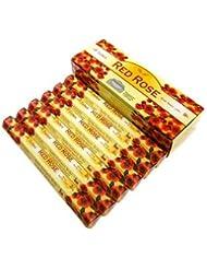 TULASI(トゥラシ) レッドローズ香 スティック RED ROSE 6箱セット