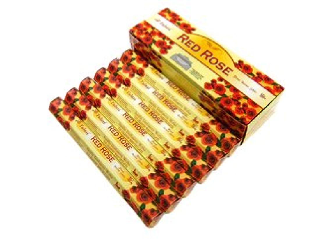 インシデント不明瞭むさぼり食うTULASI(トゥラシ) レッドローズ香 スティック RED ROSE 6箱セット