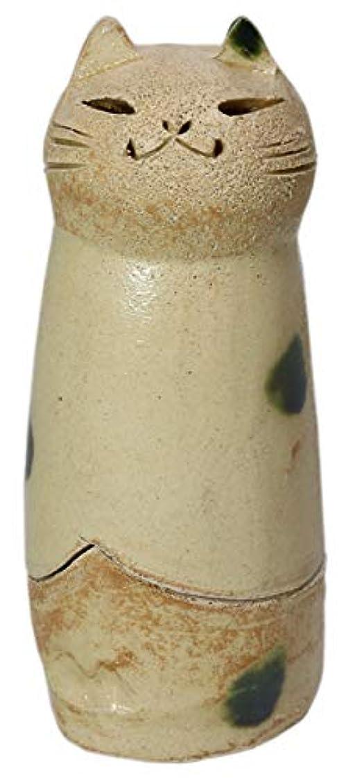 受信発火する連結する香炉 立ちネコ 香炉(大) [R5xH12cm] HANDMADE プレゼント ギフト 和食器 かわいい インテリア