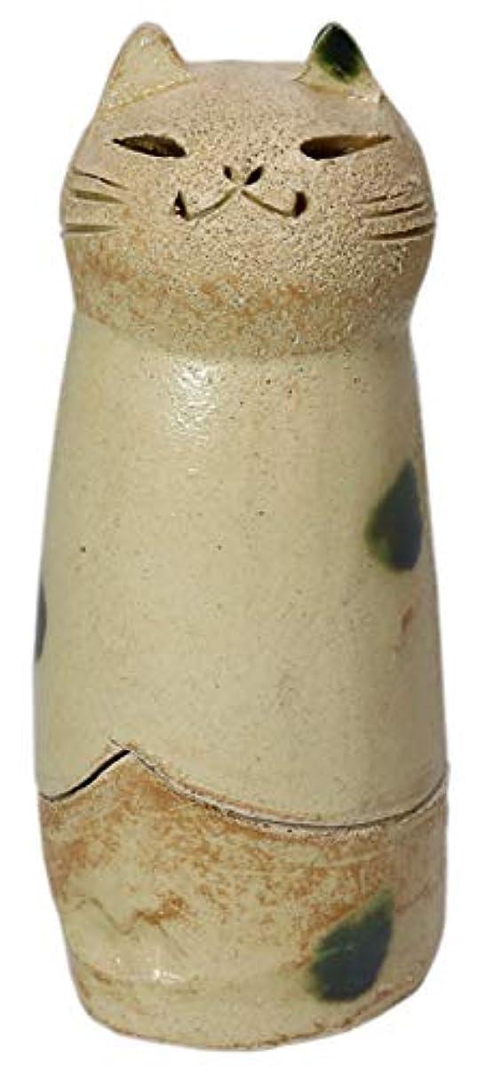 狭いスピン化石香炉 立ちネコ 香炉(大) [R5xH12cm] HANDMADE プレゼント ギフト 和食器 かわいい インテリア