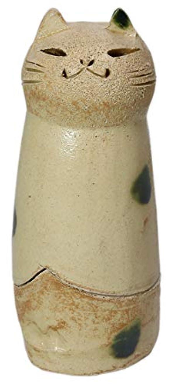 コットンチェリー練習した香炉 立ちネコ 香炉(大) [R5xH12cm] HANDMADE プレゼント ギフト 和食器 かわいい インテリア