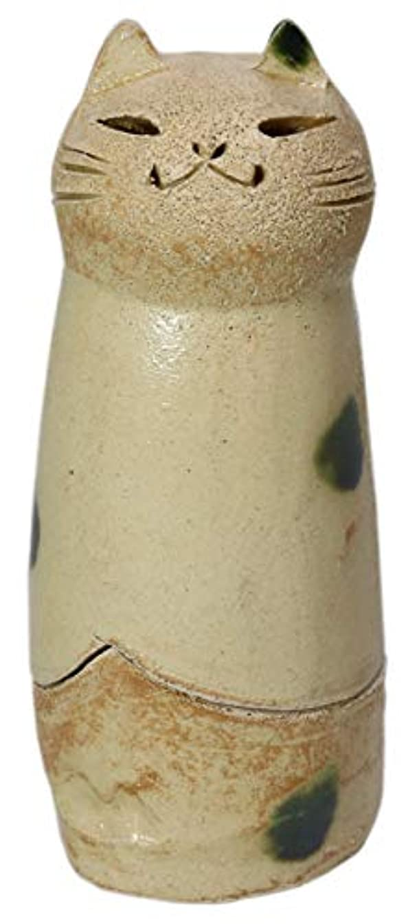 章タック規則性香炉 立ちネコ 香炉(大) [R5xH12cm] HANDMADE プレゼント ギフト 和食器 かわいい インテリア