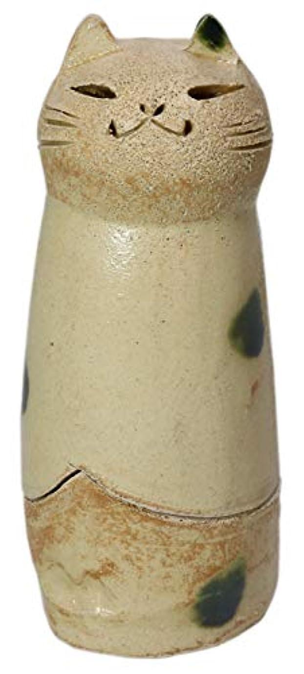 ライバル移行する学生香炉 立ちネコ 香炉(大) [R5xH12cm] HANDMADE プレゼント ギフト 和食器 かわいい インテリア