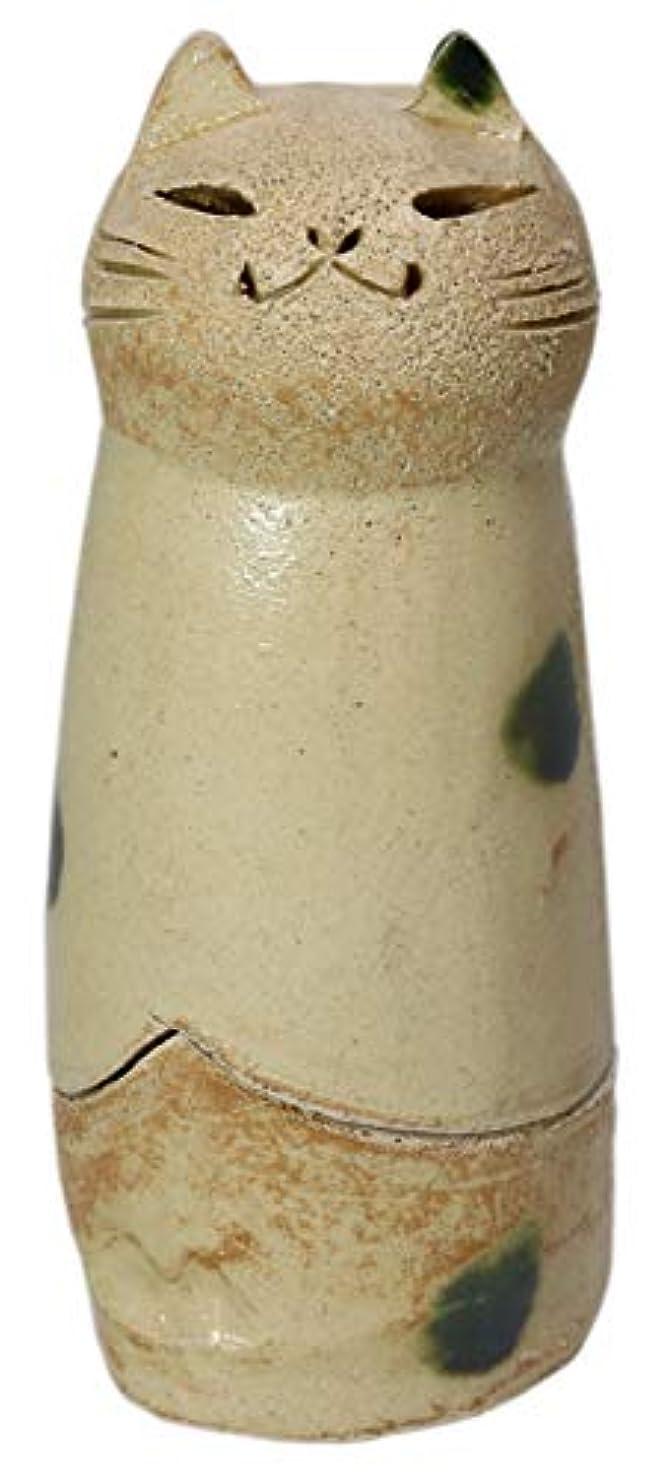 抑制病気の変更香炉 立ちネコ 香炉(大) [R5xH12cm] HANDMADE プレゼント ギフト 和食器 かわいい インテリア