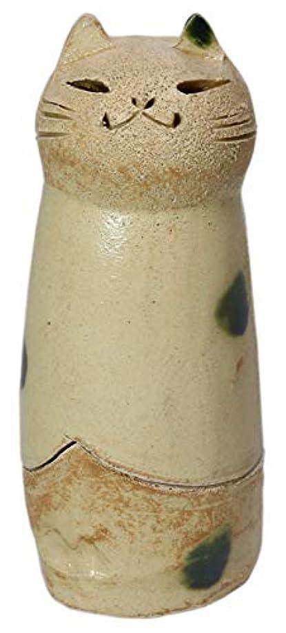 トライアスロン杖小さな香炉 立ちネコ 香炉(大) [R5xH12cm] HANDMADE プレゼント ギフト 和食器 かわいい インテリア