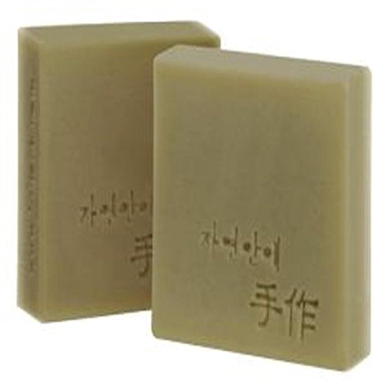 郵便老人の間でNatural organic 有機天然ソープ 固形 無添加 洗顔せっけんクレンジング 石鹸 [並行輸入品] (アプリコット)