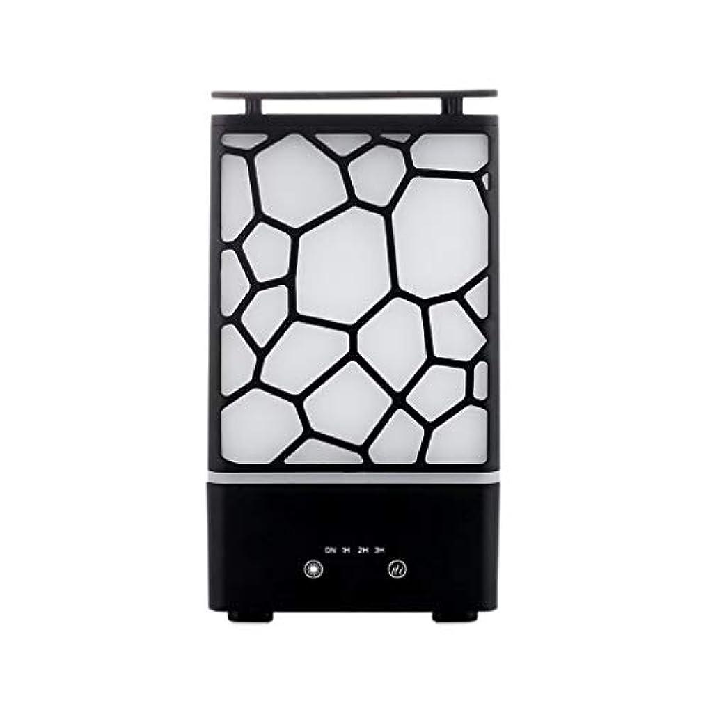 グレートオーク相談優雅アロマセラピー機械、7色ライトが付いている拡散器の超音波アロマセラピー機械空気加湿器の噴霧器 (色 : 黒)