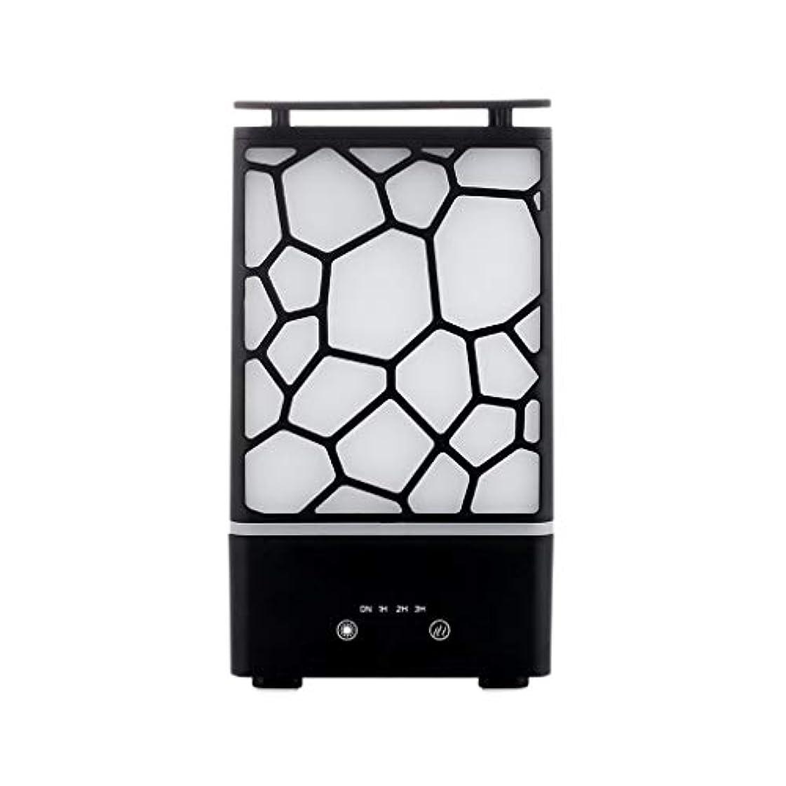 バーベキュー便利さレギュラーアロマセラピー機械、7色ライトが付いている拡散器の超音波アロマセラピー機械空気加湿器の噴霧器 (色 : 黒)