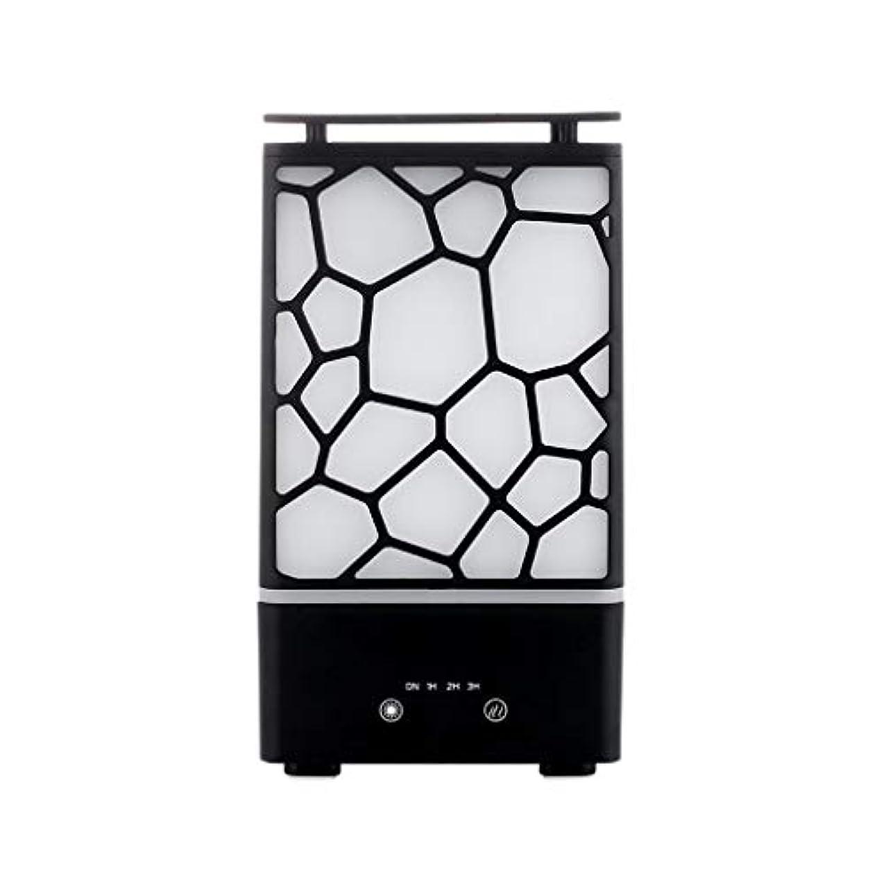平凡デッドロック毒液アロマセラピー機械、7色ライトが付いている拡散器の超音波アロマセラピー機械空気加湿器の噴霧器 (色 : 黒)