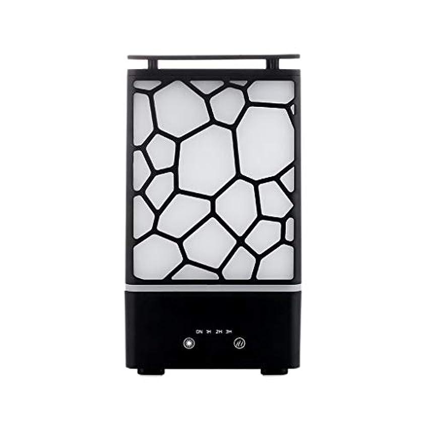 しゃがむ栄養プラグアロマセラピー機械、7色ライトが付いている拡散器の超音波アロマセラピー機械空気加湿器の噴霧器 (色 : 黒)