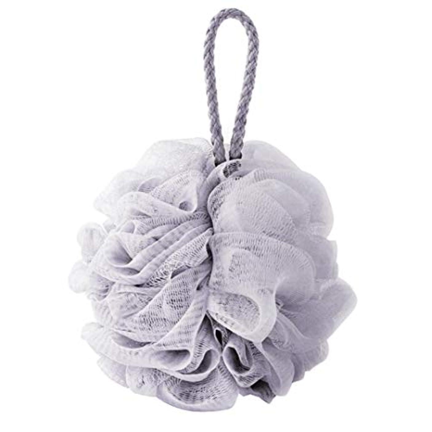 comentrisyzソフトシャワー入浴ボールブラシ泡泡ネットボディスクラブ洗浄ツール - ブルー