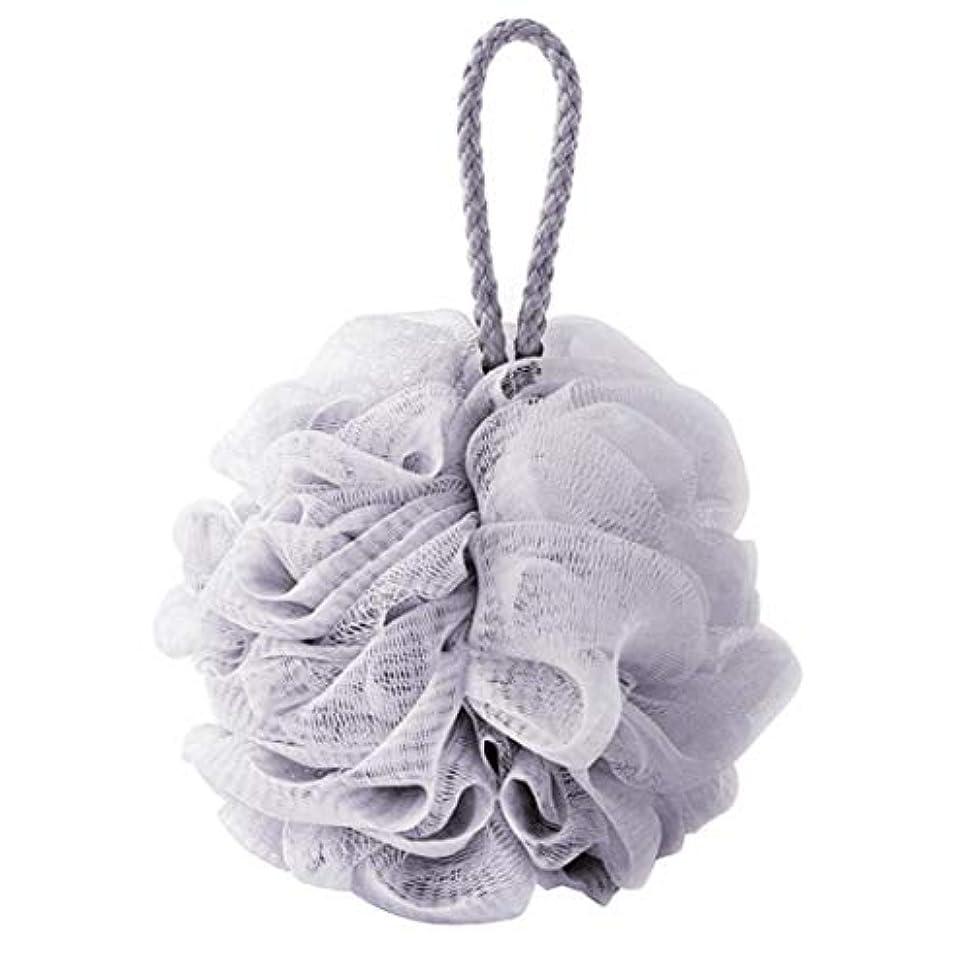 打撃れる常にcomentrisyzソフトシャワー入浴ボールブラシ泡泡ネットボディスクラブ洗浄ツール - ブルー