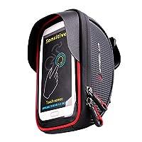 VORCOOL 自転車電話マウントバッグ 防水 ユニバーサル サイクリング 自転車フレームバッグ 電話マウントホルダー トップチューブハンドルバー ストレージバッグ iPhone 6 6s 7 7s 8 X Plus Samsung 7 Note 7 6.2インチ以下用