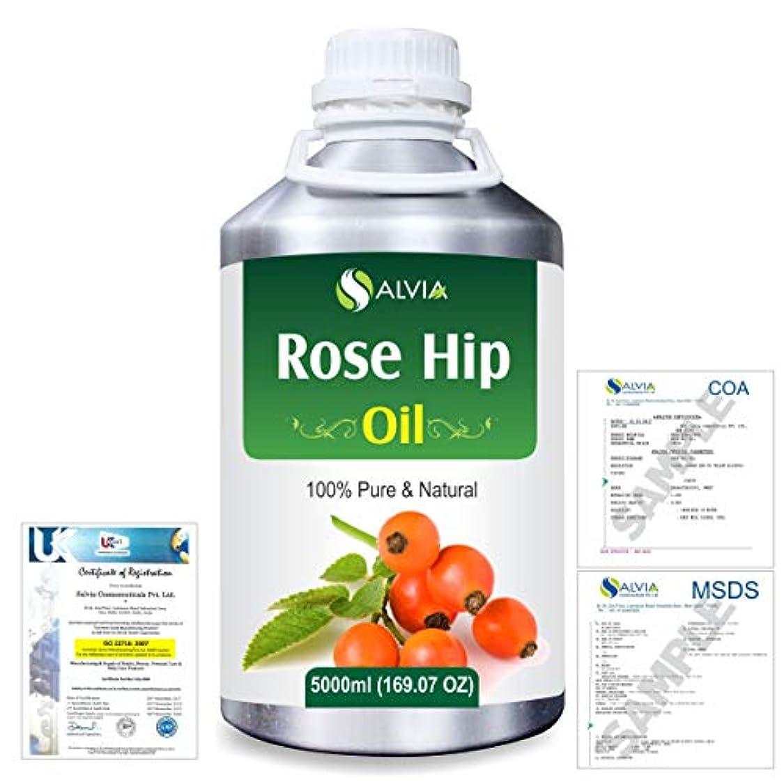 名目上の請求書生むRose Hip (Rosa moschata) Natural Pure Undiluted Uncut Carrier Oil 5000ml/169 fl.oz.