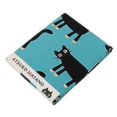 東京西川 掛け布団カバー シングル マタノアツコ 見つめる猫柄 クイックスナップで着脱簡単 ブルー PI07700011B