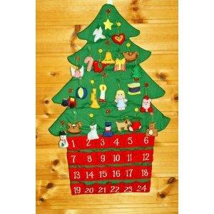 クリスマス 布絵本 布のアドベント カレンダー  壁掛け ク...