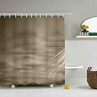 布製シャワーカーテンライナー フック付き 鳥 防カビ 防水 ストール バスタブカーテンセット バスルームの装飾用