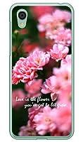 Coverfull Flowers (クリア) design by キノシタメグミ/for AQUOS sense2 SHV43・SH-01L・SH-M08/au・docomo・MVNOスマホ(SIMフリー端末) ASHV43-PCNT-214-MCF6