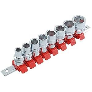 SK11(エスケー11) ノンスリップ ソケットセット 差込角 9.5mm (3/8インチ) 8・10・12・13・14・15・17・19mm SHS308X