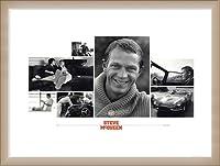 ポスター シド アベリー Steve McQueen(スティーブ マックイーン) 額装品 ウッドベーシックフレーム(オフホワイト)