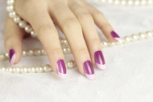 DCMA コスメ ネイル チップ ゴージャス ピンク パープル フリーサイズ