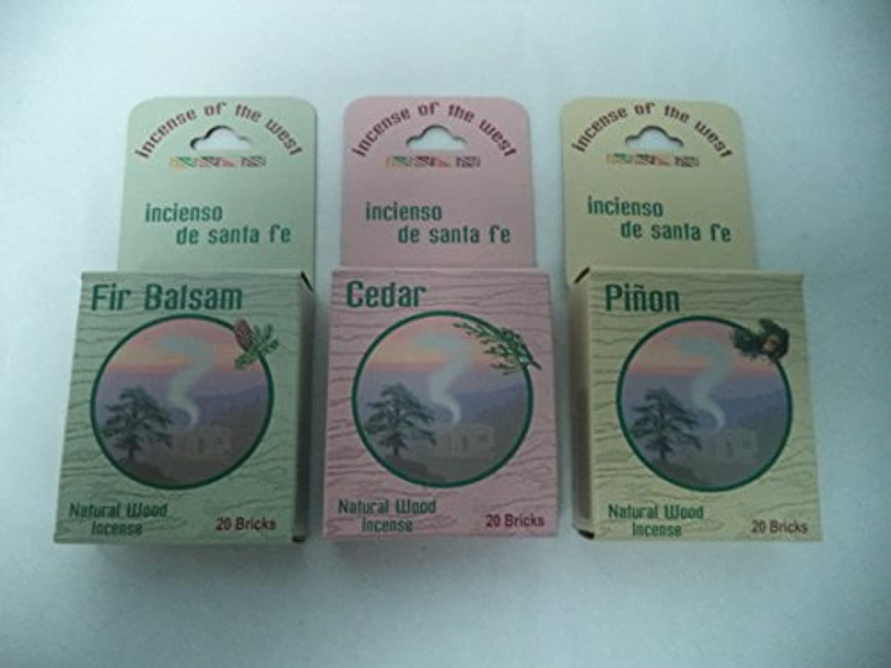 骨折与える良性Balsam Fir 20 + Cedar 20 + Pinon Pine 20: 60 CHRISTMAS INCENSE CONES / LOGS by Incienso de Sante Fe