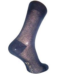 ダニエルジェイコブ(Daniel Jacob) 上質 紳士用 ビジネスソックス ブラック12足セット ふくらはぎ丈 イタリア製 エジプト綿100%  DXギフトボックス入り