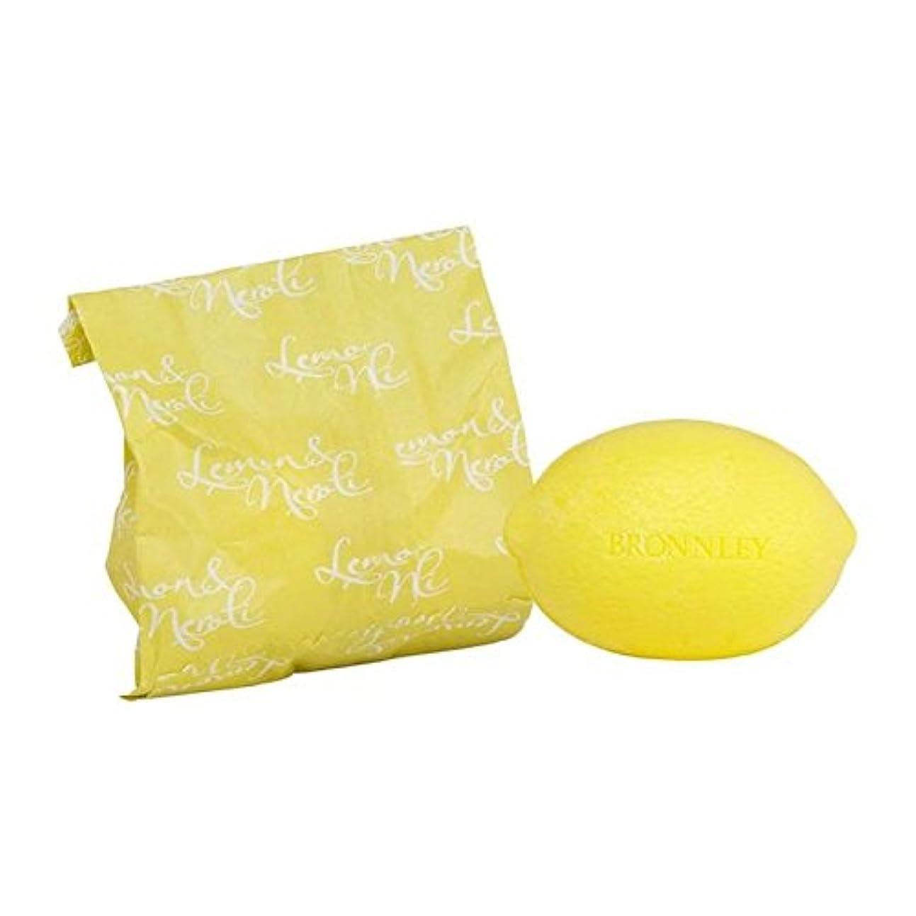 下向き交換可能ジョージスティーブンソンレモン&ネロリ石鹸100グラム x4 - Bronnley Lemon & Neroli Soap 100g (Pack of 4) [並行輸入品]