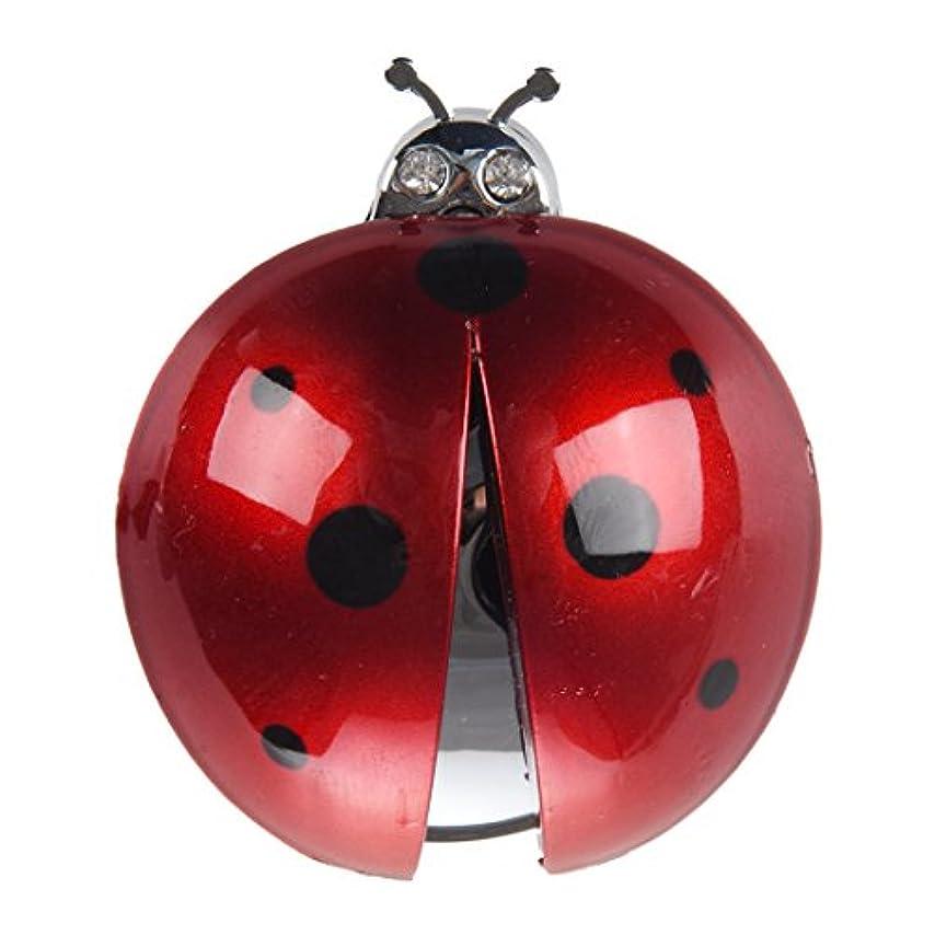 カバー寛容ハウジングNaliovker Naliovker(R)車の空気ベント てんとう虫のデザイン フレグランス 清浄 芳香 ダークレッド