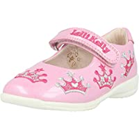 Lelli Kelly Princess Letizia Pearled Pink Leather Child Mary Jane Shoes