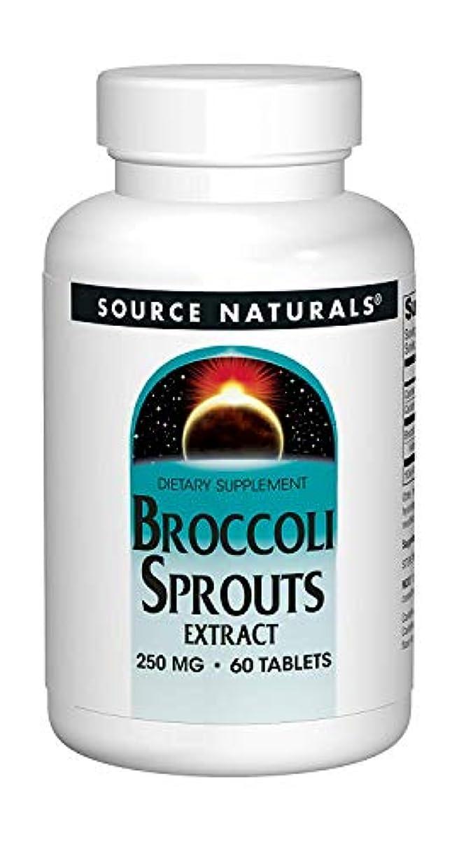 耕す急性静めるSource Naturals Broccoli Sprouts (60T)ブロッコリー?スプラウト《ブロッコリーの新芽》~海外直送品~ (4 Packs)