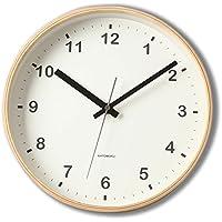 KATOMOKU plywood wall clock ナチュラル 電波時計 連続秒針 km-33MRC φ252mm