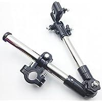 【ポジティブ】 超便利♪ コンパクトに折りたためる 自転車 用 傘スタンド (取付説明書 + 専用スパナ付き) (ブラック)