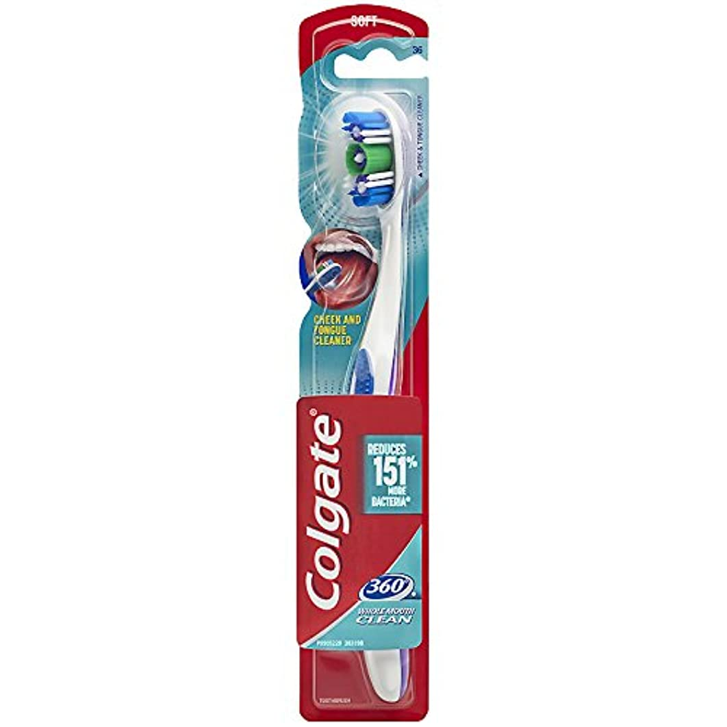 恐ろしいグラフ政治Colgate 舌と頬クリーナーで360歯ブラシ - ソフト(1パック)