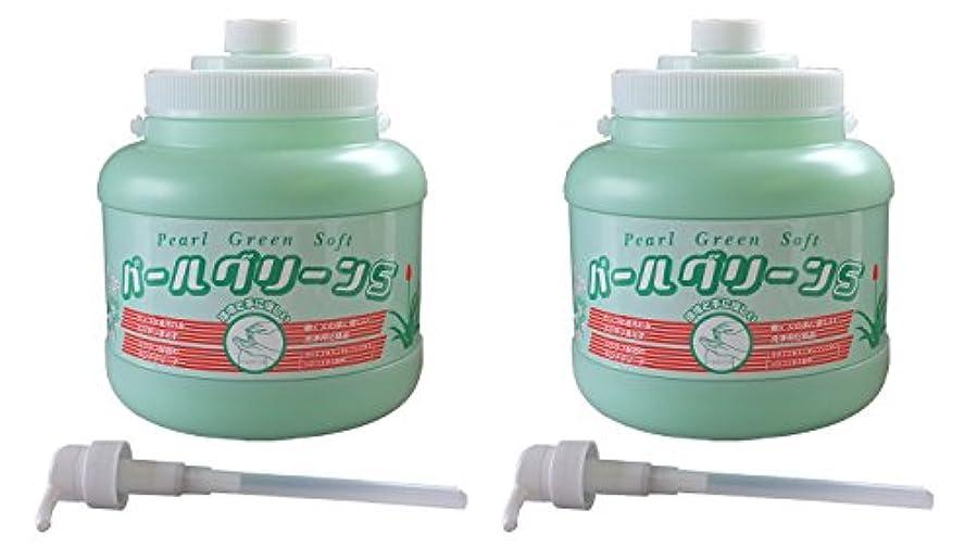 タイト線ポケット手の油汚れを水なしで素早く落とす!環境を考えた手に優しいハンドクリーナー!パールグリーンS[ポンプ式]2.5kg×2本