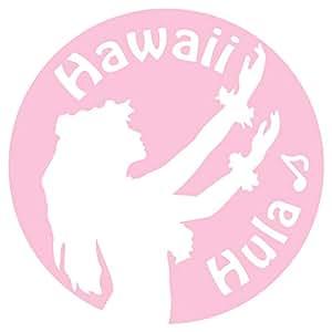 nc-smile ハワイアン ステッカー フラガール Hula Hawaii (サーモンピンク)