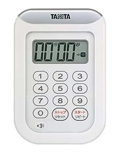 タニタ 丸洗いタイマー100分計 ホワイト TD-378-WH
