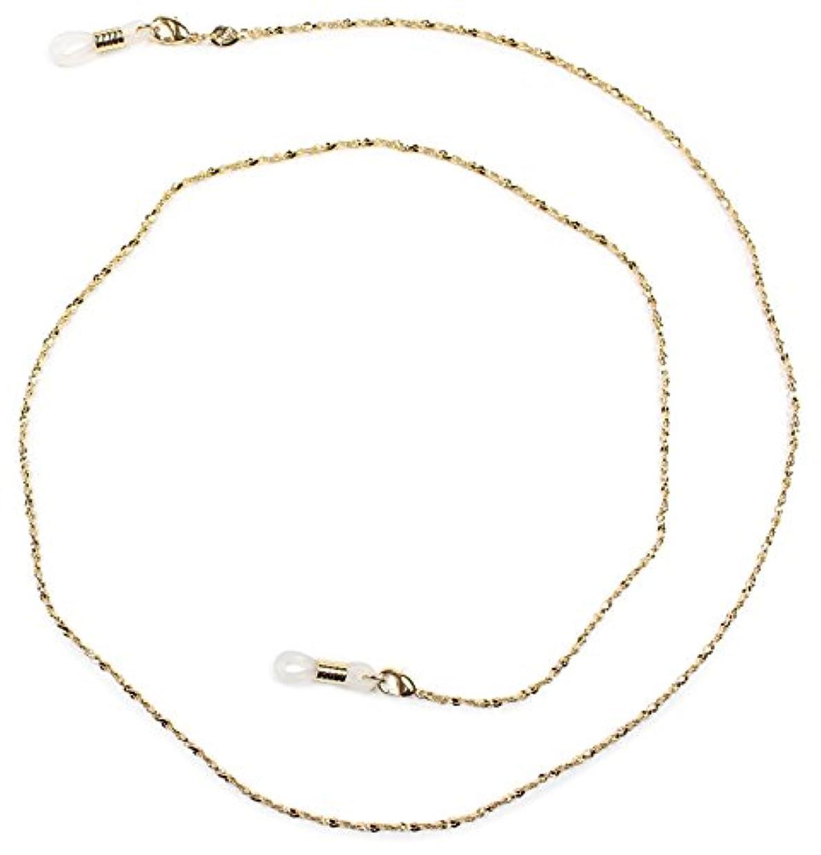 類人猿タイピストケーブルパール グラスコード 真鍮 72cm ゴールド CG-104