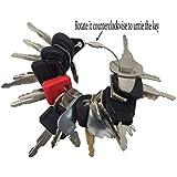 24 Keys Set Construction Ignition Key Set for Kato Excavator Massey Ferguson Bobcat John Deere