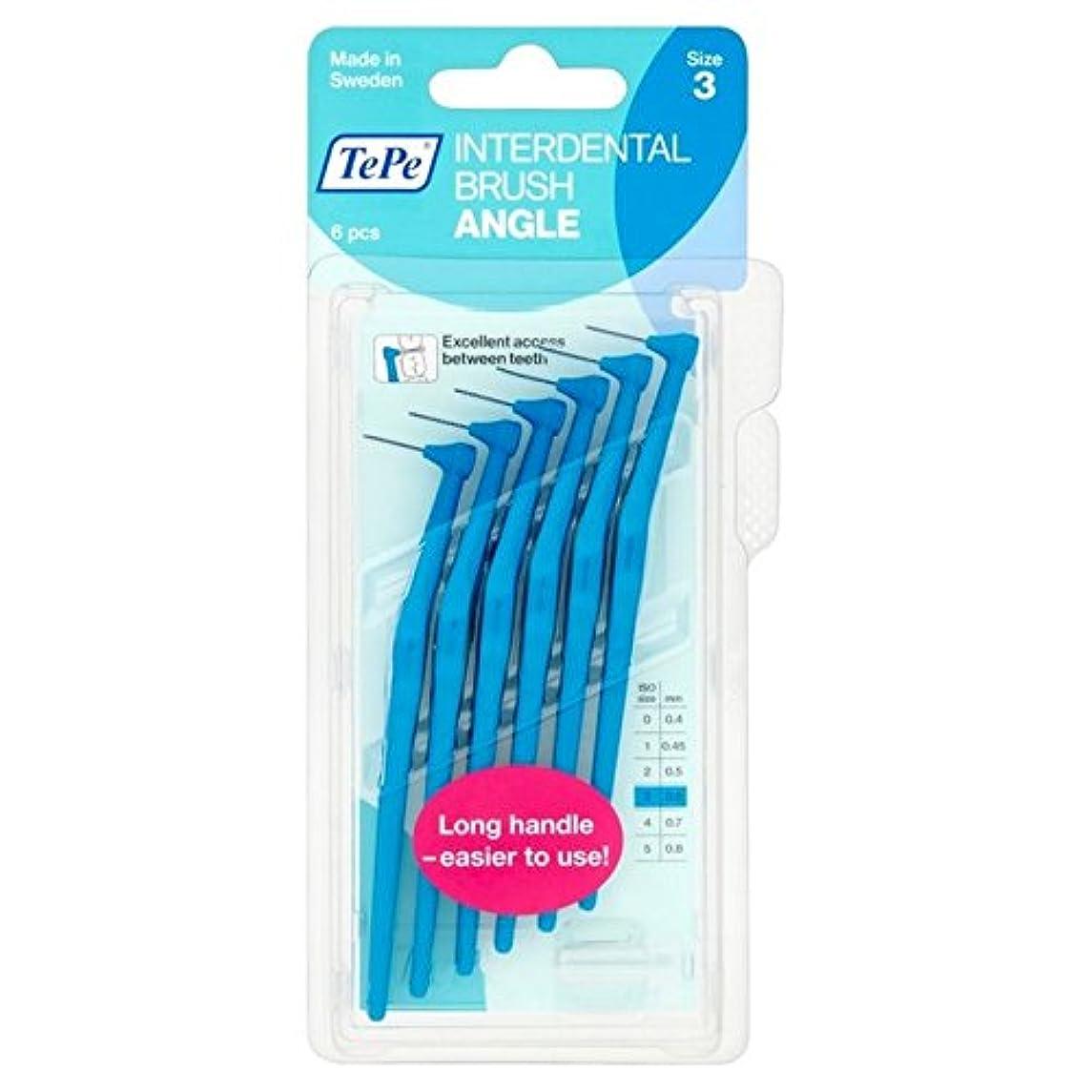 ウイルス優越乳白色TePe Angle Blue 0.6mm 6 per pack - パックあたり0.6ミリメートル6青テペ角度 [並行輸入品]