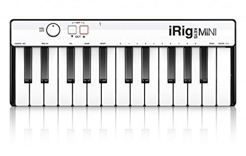 IK Multimedia iRig Keys Mini iOS USB MIDIキーボード 25鍵盤 ミニ鍵 (IKマルチメディア) 国内正規品