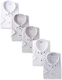 (アトリエサンロクゴ) atelier365 半袖 ワイシャツ 5枚セット 形態安定 ビジネスYシャツ クールビズ/sa02