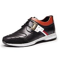 [HONGJING] ビジネスシューズ メンズ カジュアル インソール ローカット 靴 春夏 トレッキング 通気 スリッポン オシャレ 履き地よい 歩きやすい 25.5cm 黒い ブラック
