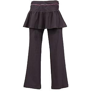 (レバント)LEVANT 婦人ストレッチスカート付ロング丈ヨガパンツ 6127-433 031BR ブラウン LL