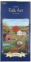 ラングカンパニー19991079119ラングフォークアート2019垂直カレンダー