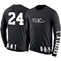 WYXIAN Round Neck Long-sleeved T-shirt Los Angeles Lakers Kobe Bryant Cotton Long-sleeved Sportswear Spring And Autumn Male Sport