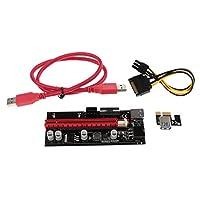 Fenteer 多機能 実用的 PCIE ライザー 1X ~ 16X  グラフィック 拡張ライザー マイニングカード 60cm USB3.0 ケーブル