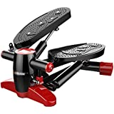 NSHUN Mini Stepper Fitness Cardio Exercise, Fitness Stair Stepper, Trainer Twisting Action with Resistance Bands