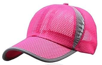 [B-WINDY] メッシュ キャップ UVカット ランニング 帽子 メンズ (8,ピンク)